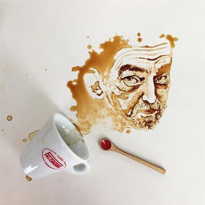 Không thể tin tác phẩm tuyệt đẹp này được vẽ từ trà, cafe đổ Ảnh 17