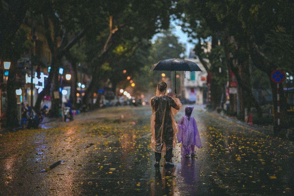 Bức tranh Hà Nội dưới cơn mưa vội ngày cuối tuần Ảnh 3
