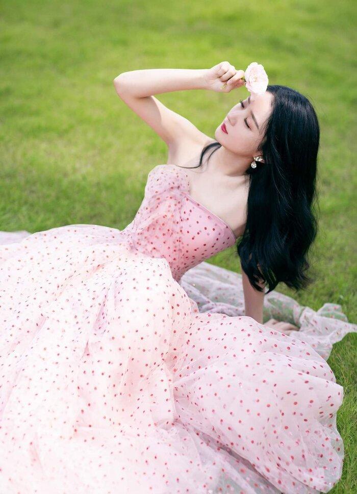Triệu Lệ Dĩnh bất chấp các lùm xùm gần đây leo lên hạng 5 hot search nhờ diện váy cực thanh lịch tại Quảng Châu Ảnh 3