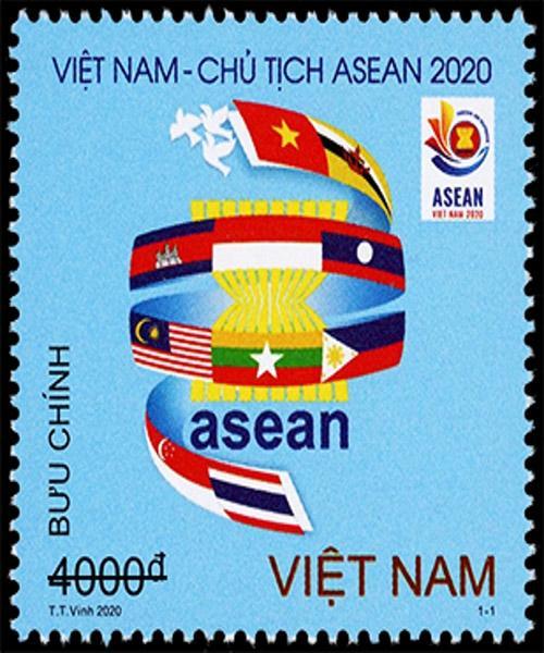 Phát hành bộ tem 'Việt Nam Chào mừng năm ASEAN 2020 Ảnh 1