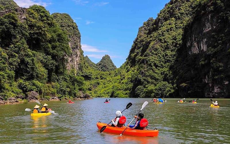Chèo thuyền kayak ngắm cảnh Tràng An Ảnh 2