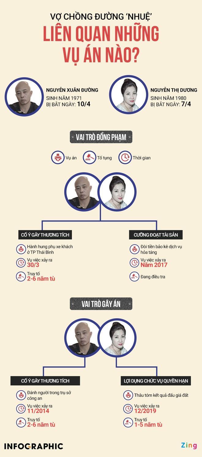 Vợ chồng 'Đường Nhuệ' liên quan những vụ án nào? Ảnh 1