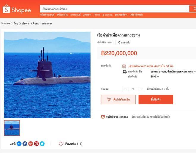 Tàu ngầm triệu USD được rao trên Shopee Ảnh 1