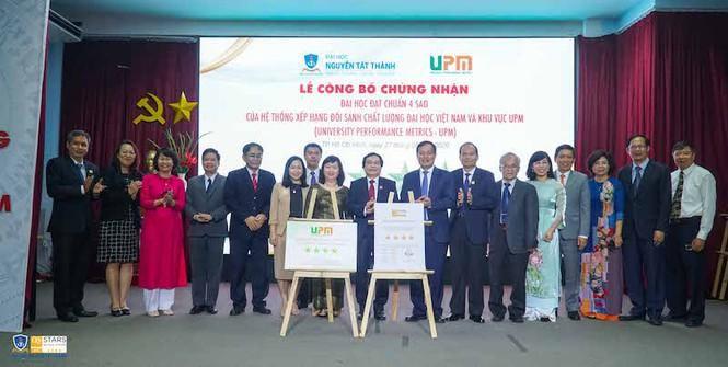 Trường ĐH Nguyễn Tất Thành đón nhận chuẩn 4 sao UPM Ảnh 1