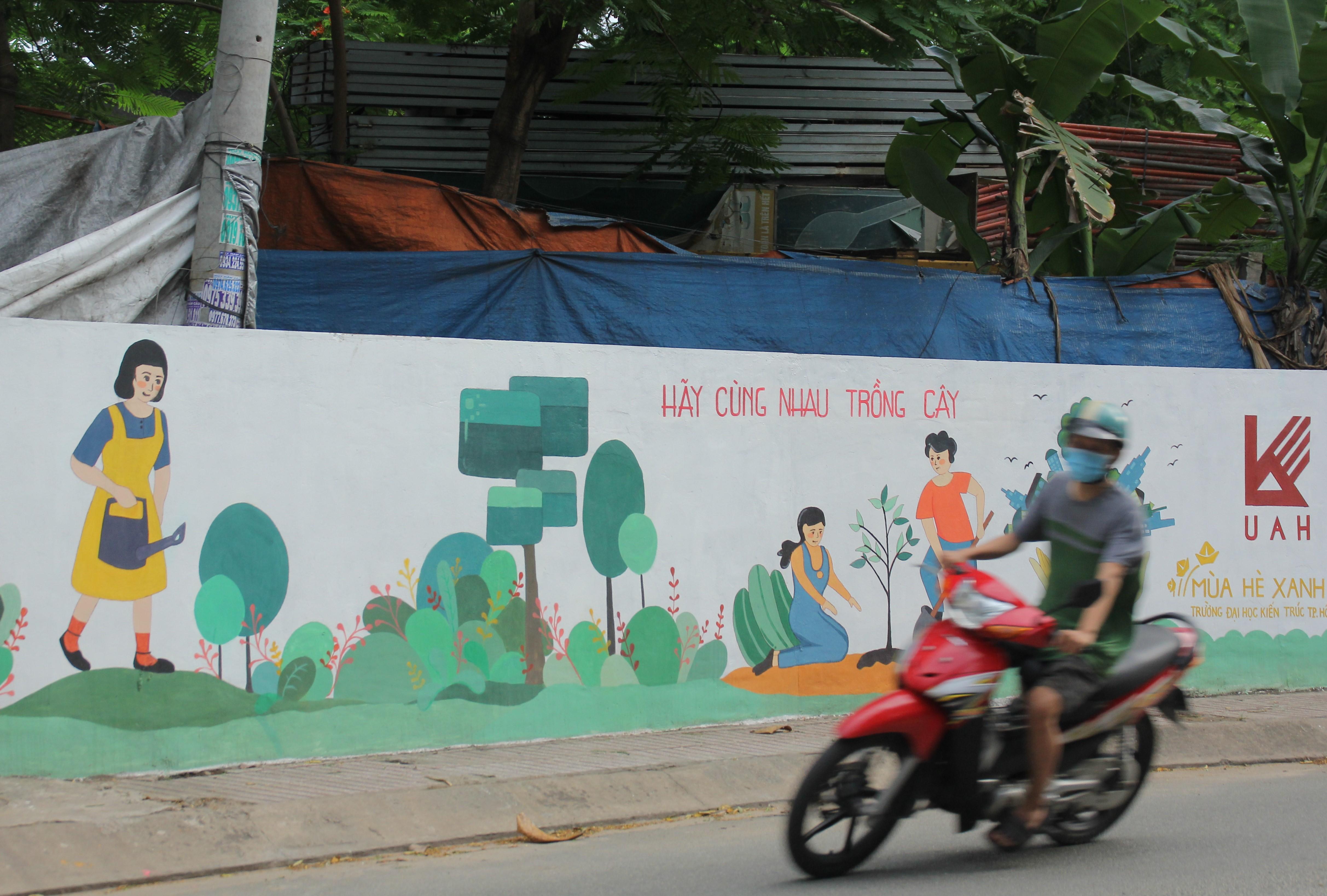 Cận cảnh những mảng tường 'biết nói' của chiến sỹ tình nguyện hè Ảnh 7