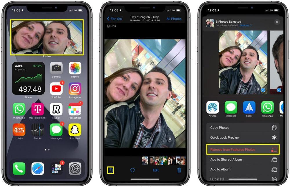 Cách gỡ một tấm ảnh nổi bật khỏi widget Photos trên iOS 14 và iPadOS 14 Ảnh 2