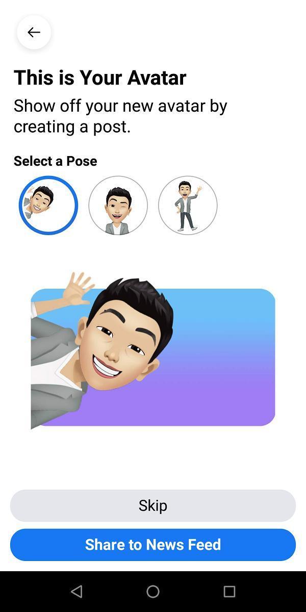 Hướng dẫn tạo Facebook Avatar phiên bản hoạt hình của chính bạn Ảnh 8