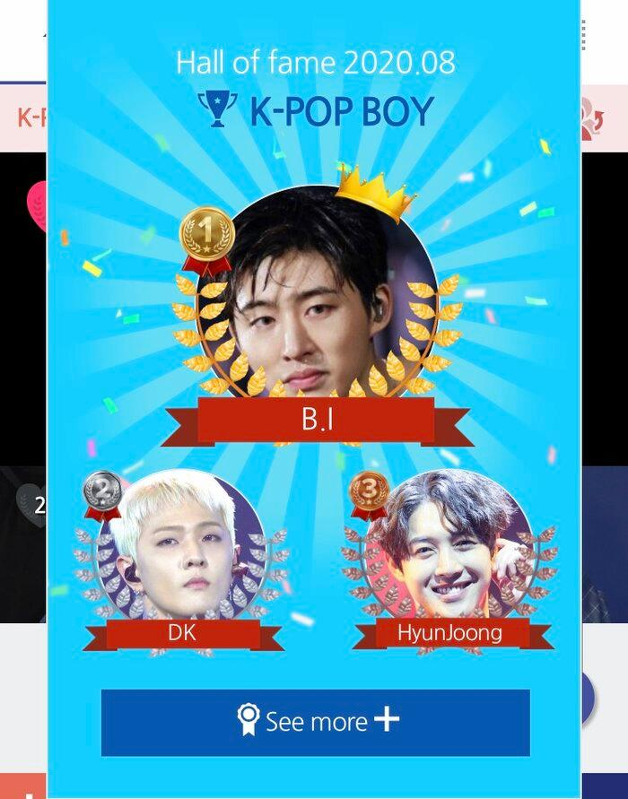 Top 20 nam idol Kpop hot nhất tháng 8: B.I (iKON) đứng nhất, Jin (BTS) bị Kim Hyun Joong 'vượt mặt' Ảnh 1