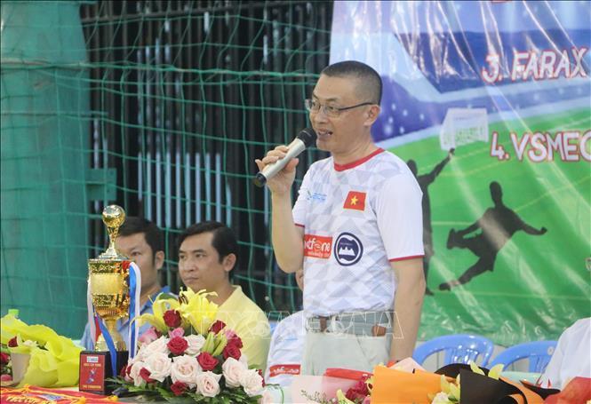 Khởi tranh giải bóng đá doanh nghiệp Việt Nam tại Campuchia Ảnh 1
