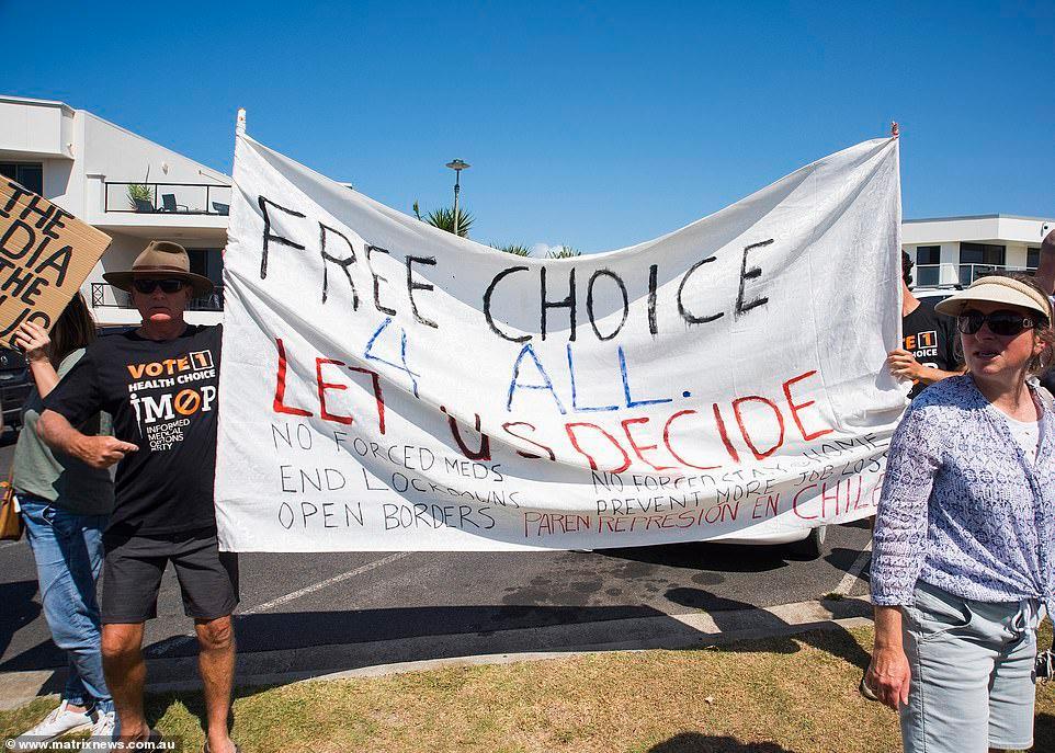 Biểu tình chống phong tỏa vì Covid-19 ở Australia Ảnh 11