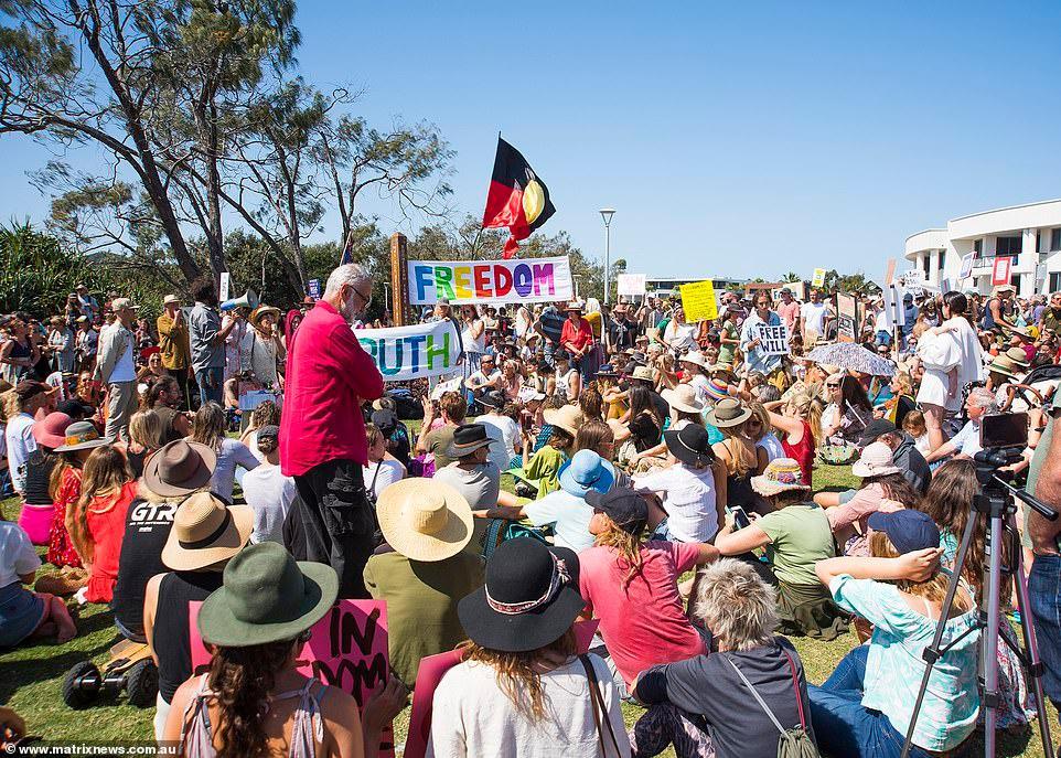 Biểu tình chống phong tỏa vì Covid-19 ở Australia Ảnh 10