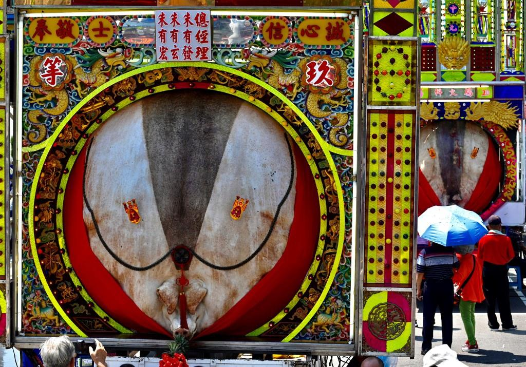 Lễ hội rước 'lợn thần' gây tranh cãi ở Đài Loan Ảnh 2