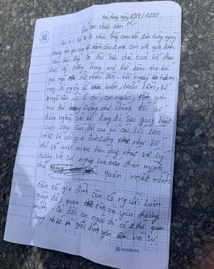 Người đàn ông để lại lá thư gửi con trai 2 tuổi rồi bất ngờ nhảy sông tự tử Ảnh 2
