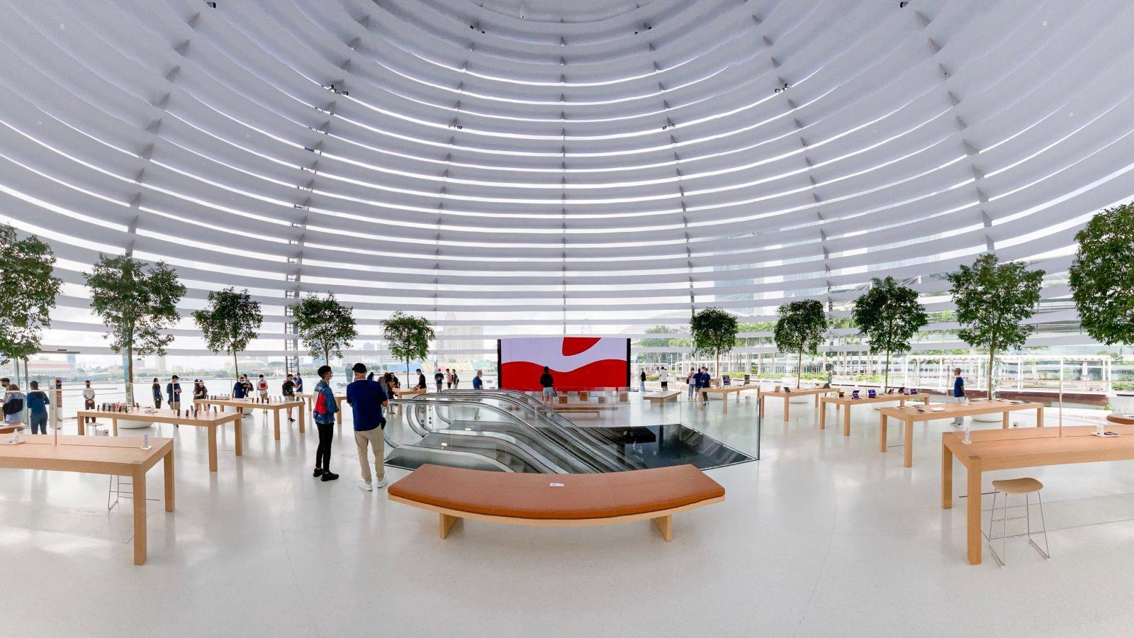 Bên trong Apple Store nổi trên vịnh ở Singapore Ảnh 2