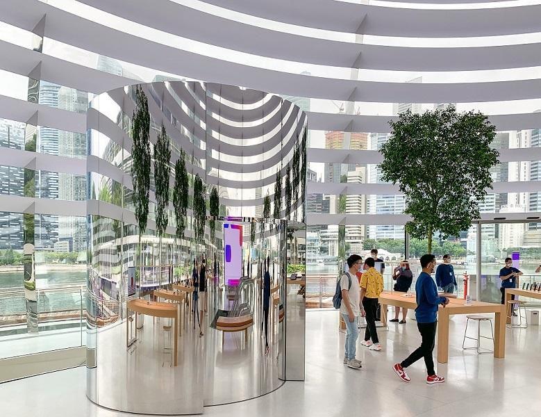 Bên trong Apple Store nổi trên vịnh ở Singapore Ảnh 1