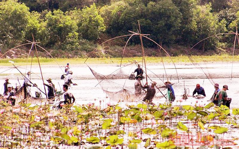 Độc đáo lễ hội phá trằm bắt cá ở Quảng Trị Ảnh 2