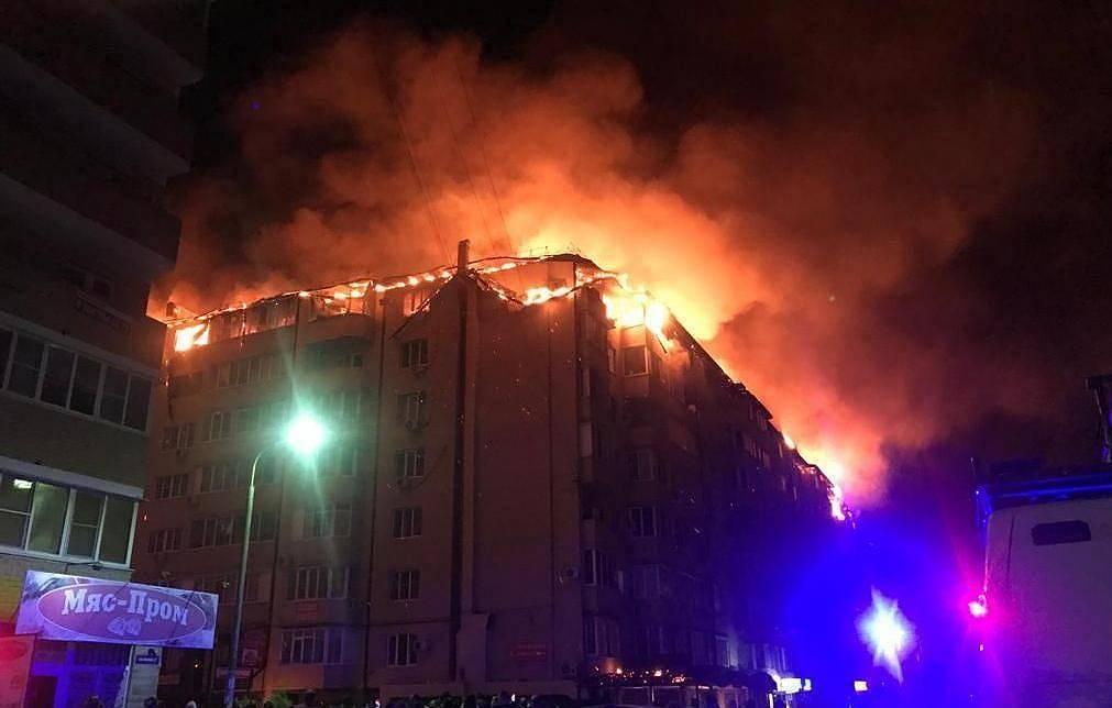 Hỏa hoạn thiêu rụi tầng áp mái một tòa chung cư ở Nga Ảnh 1