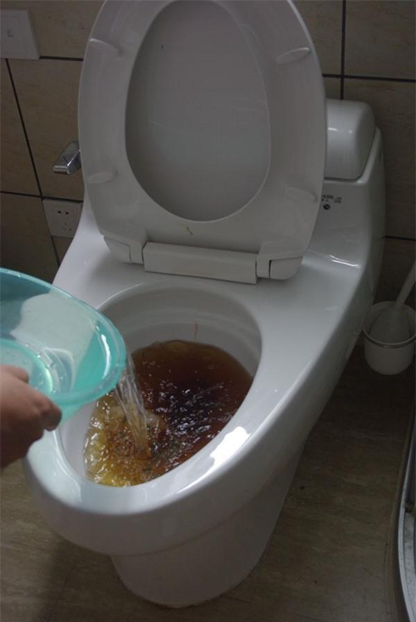 Ai ngờ chỉ vài giọt nước rửa bát cũng có thể thông bồn cầu 'sạch trơn' trong vài phút Ảnh 3
