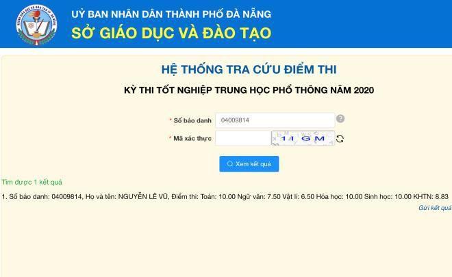 Thí sinh Đà Nẵng đạt 30 điểm khối B, soán ngôi thủ khoa toàn quốc Ảnh 1