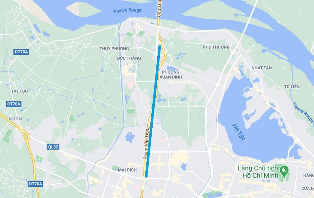 Toàn cảnh cầu cạn đoạn Mai Dịch - Nam Thăng Long trước ngày thông xe Ảnh 12