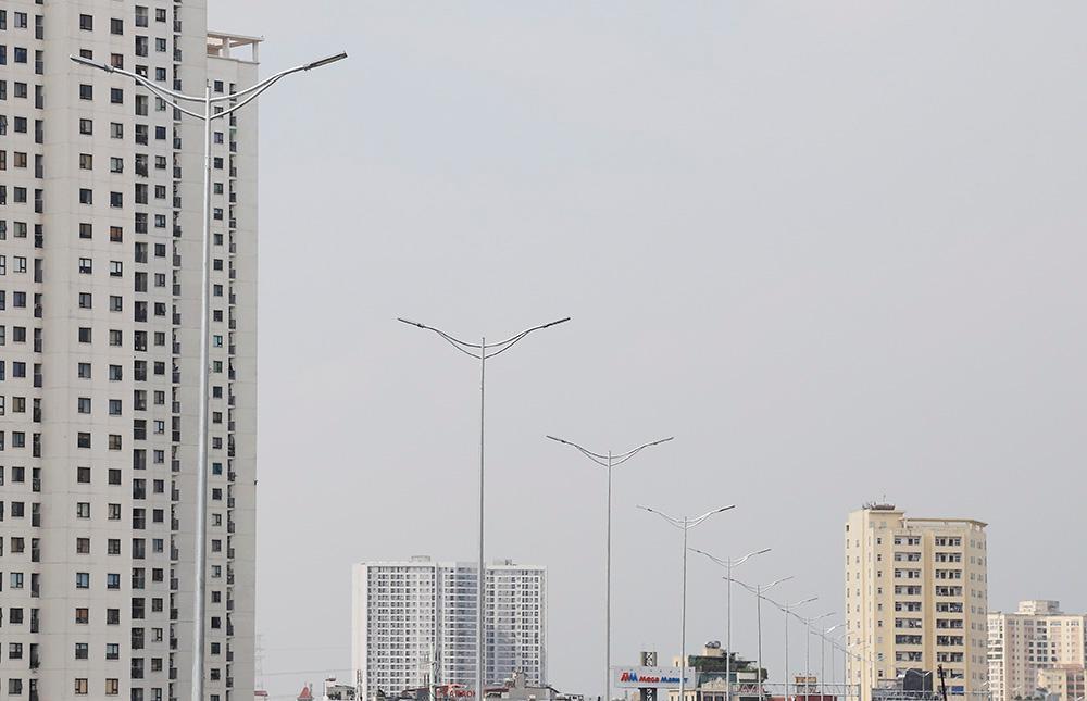Toàn cảnh cầu cạn đoạn Mai Dịch - Nam Thăng Long trước ngày thông xe Ảnh 6