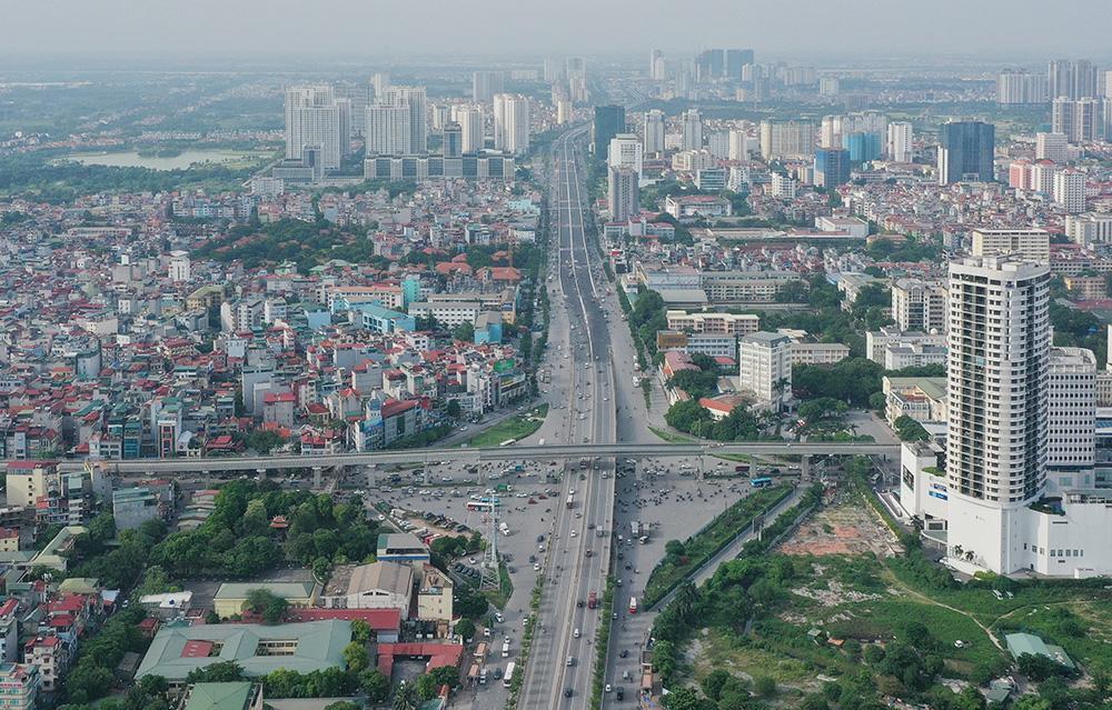 Toàn cảnh cầu cạn đoạn Mai Dịch - Nam Thăng Long trước ngày thông xe Ảnh 11