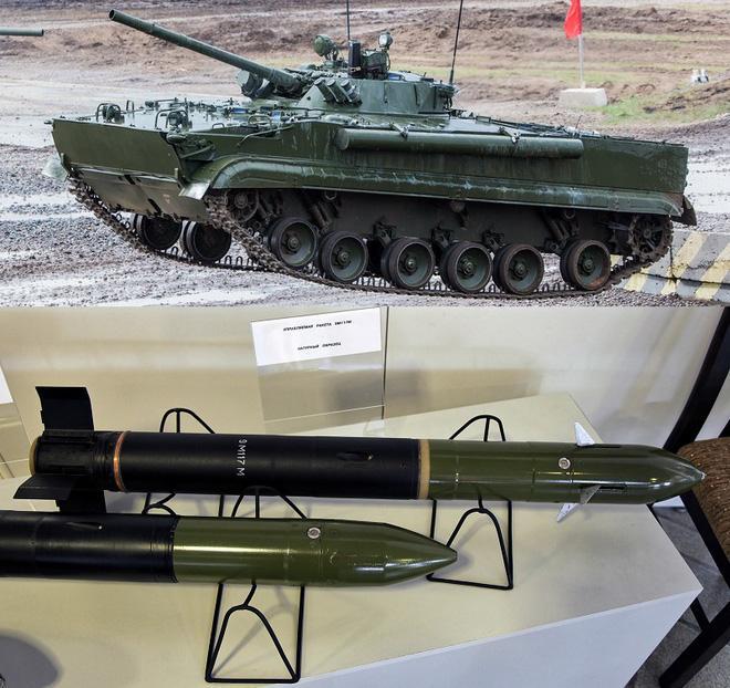 Hi hữu: Xe chiến đấu bộ binh BMP-3 Nga khai hỏa tên lửa 'đánh quỵ' xe tăng T-90 ở Syria? Ảnh 3