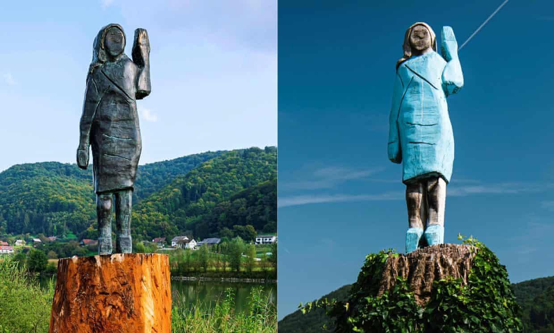 Khánh thành bức tượng đồng mới của Đệ nhất phu nhân Melania tại quê nhà Slovenia Ảnh 2