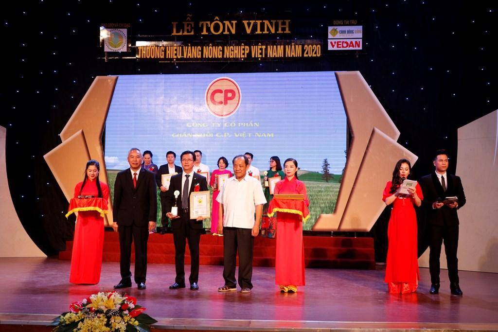 C.P. Việt Nam có 3 sản phẩm nhận thương hiệu vàng nông nghiệp Việt Nam Ảnh 1