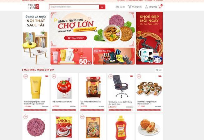 Lần đầu mở 'chợ phiên online' cho tiểu thương Ảnh 1