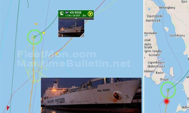 Tàu hộ vệ tên lửa Nga va chạm tàu hàng ngoài khơi Đan Mạch Ảnh 1