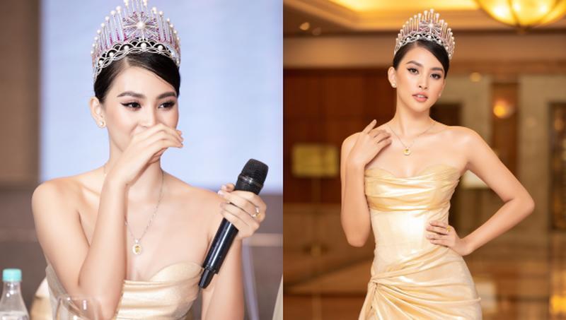 Tiểu Vy bật khóc nhìn lại hành trình 2 năm đăng quang Hoa hậu Ảnh 1