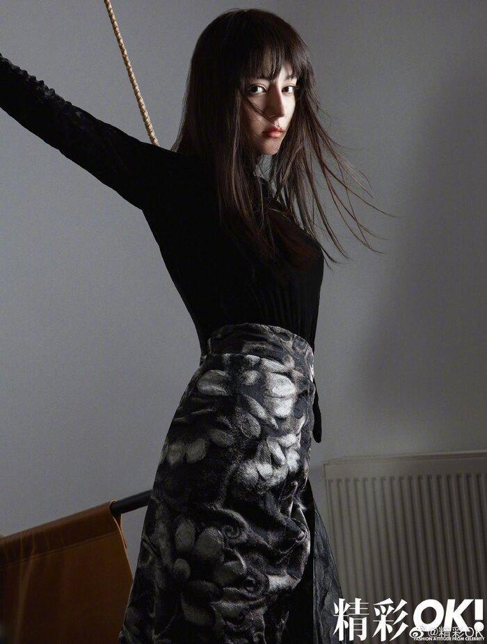 Mỹ nhân Tân Cương Địch Lệ Nhiệt Ba 'xấu lạ' với mái tóc ngắn cụt ngủn trên tạp chí Ảnh 8