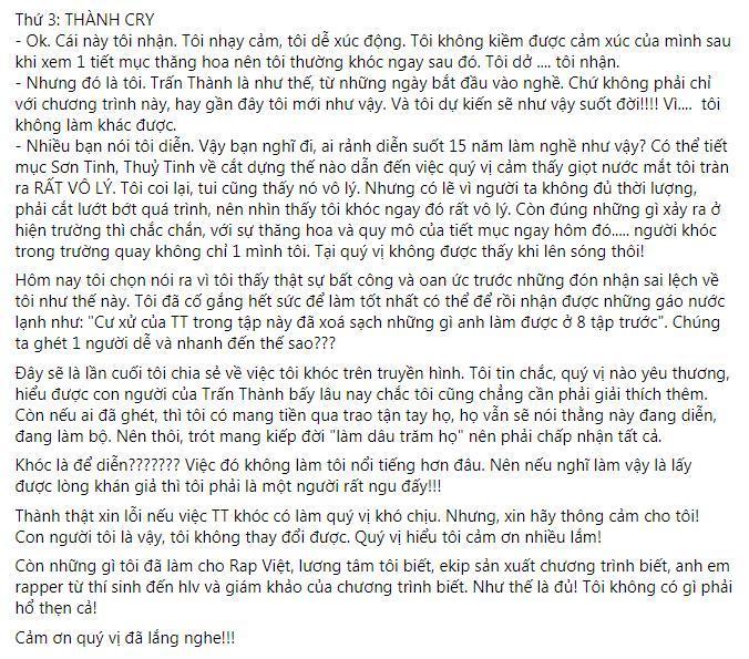 Binz, Rhymastic động viên Trấn Thành sau những ồn ào xoay quanh Rap Việt Ảnh 4