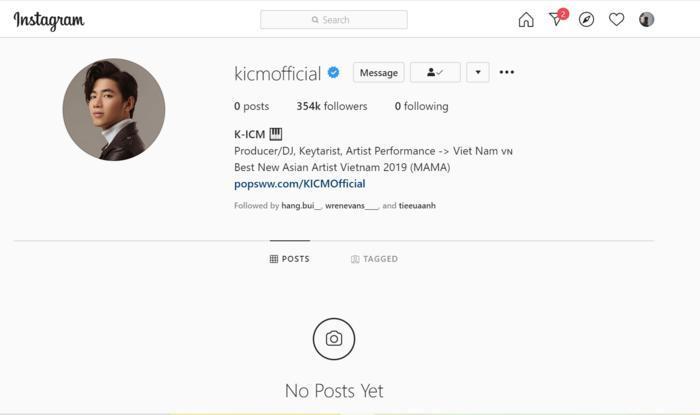 K-ICM bỗng dưng xóa sạch toàn bộ hình ảnh trên Instagram, chuyện gì đã xảy ra? Ảnh 1