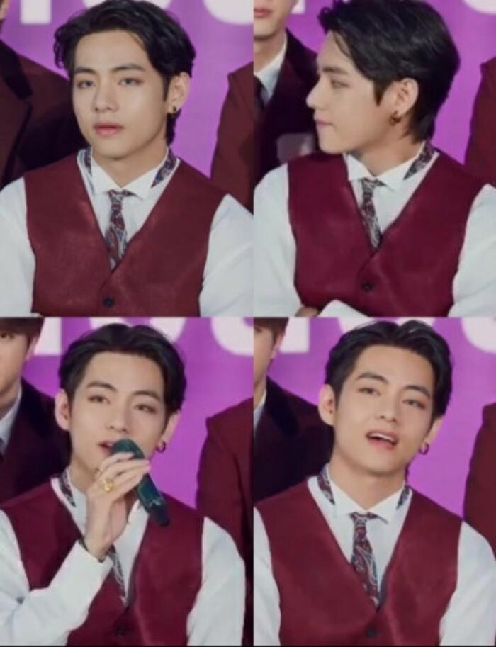 V (BTS) 'chễm chệ' ngồi Top 2 với kiểu tóc 'vuốt keo các thứ': Đẹp trai thì mới có nhiều đứa yêu! Ảnh 2
