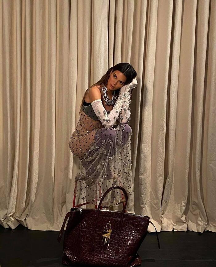 Chị em Kardashian diện đồ hiệu, cô chị lộ nội y - người em như quấn rèm Ảnh 6
