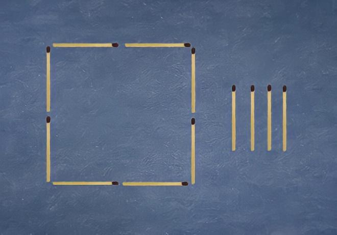 Di chuyển 4 que diêm để tạo thành 2 hình bằng nhau Ảnh 1