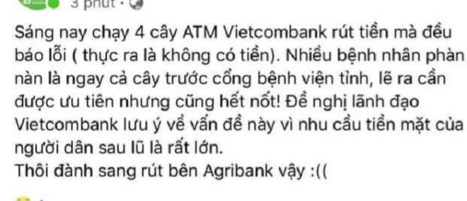 Thực hư nhiều cây ATM ở Hà Tĩnh không rút được tiền Ảnh 1