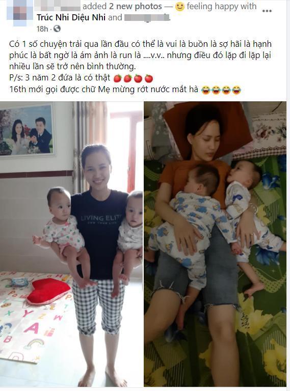 Mẹ bé Trúc Nhi - Diệu Nhi vỡ òa trong hạnh phúc khi hai con gọi tiếng 'mẹ' sau 16 tháng Ảnh 3