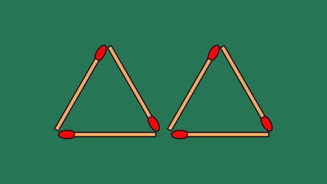 Di chuyển 3 que diêm để tạo thành 4 tam giác đều Ảnh 1