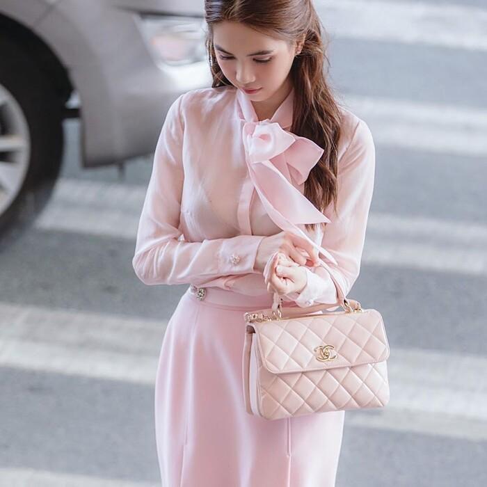 Ngọc Trinh hóa tiểu thư ngọt ngào với chiếc váy hồng ngọt, không cần rượu fan cũng tự khắc say Ảnh 3