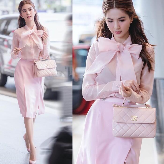 Ngọc Trinh hóa tiểu thư ngọt ngào với chiếc váy hồng ngọt, không cần rượu fan cũng tự khắc say Ảnh 4