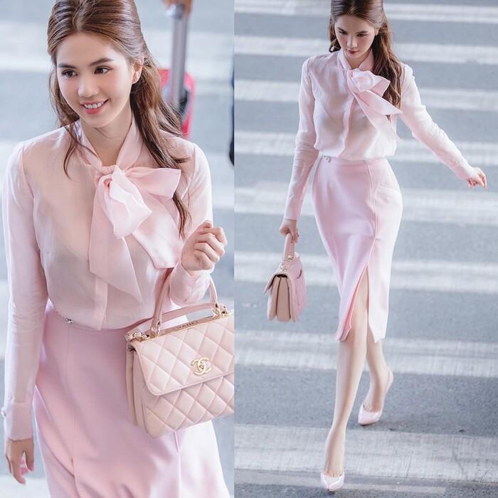 Ngọc Trinh hóa tiểu thư ngọt ngào với chiếc váy hồng ngọt, không cần rượu fan cũng tự khắc say Ảnh 1