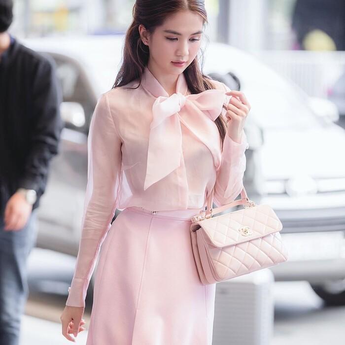 Ngọc Trinh hóa tiểu thư ngọt ngào với chiếc váy hồng ngọt, không cần rượu fan cũng tự khắc say Ảnh 5