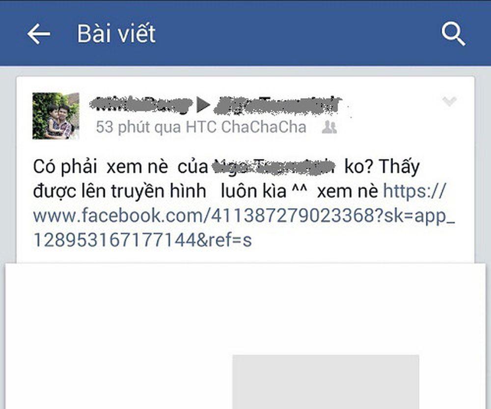 Hình Ảnh Một Thông Tin Nội Dung Gây Tò Mò Đang Được Phát Tán Trên Facebook  - Ảnh: Bkav