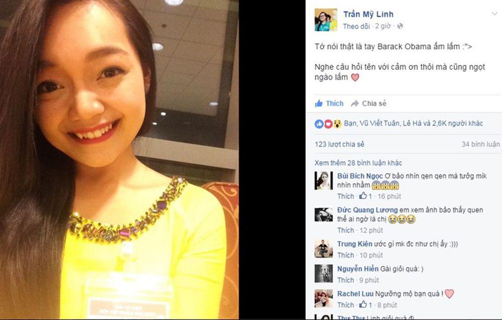 Phóng viên Báo điện tử Kiến thức đã tìm hiểu và liên lạc nhanh với cô gái  tặng hoa cho Tổng thống Obama và được biết, tên thật của cô là Trần ...