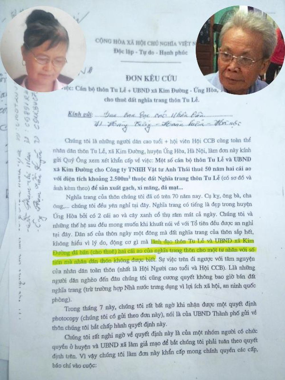 Tại Buổi Họp Sơ Kết 6 Tháng Đầu Năm Của Chi Hội Người Cao Tuổi Thôn Tu Lễ,  Theo Ông Đức, Bà Sỹ Đã Soạn Thảo Đơn Kêu Cứu, ...