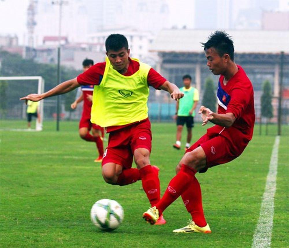 U20 Việt Nam bước vào luyện tập để thi đấu tốt trước U20 Ác-hen-ti-na. Ảnh:  Anh Minh.