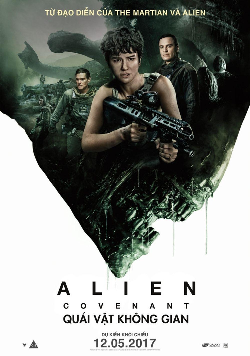 Bộ phim Alien: Covenant được xem là sự trở lại thành công của loạt phim  quái vật ngoài không gian.